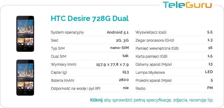 specyfikacja HTC Desire 728G Dual