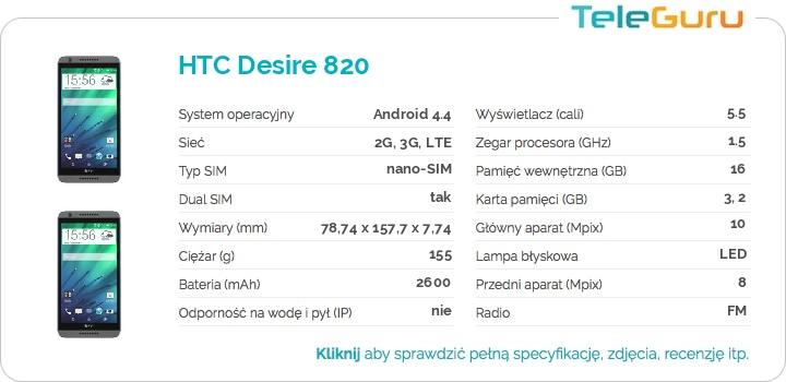specyfikacja HTC Desire 820