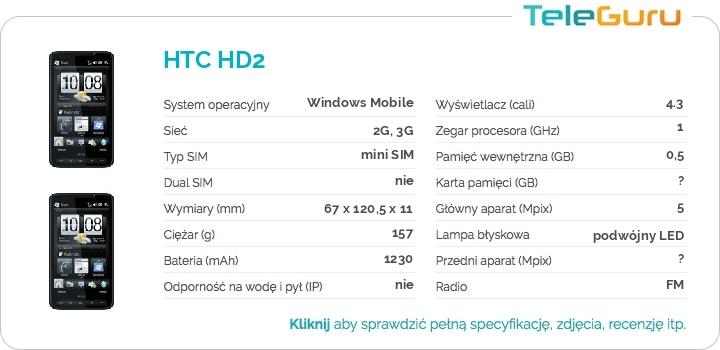 specyfikacja HTC HD2