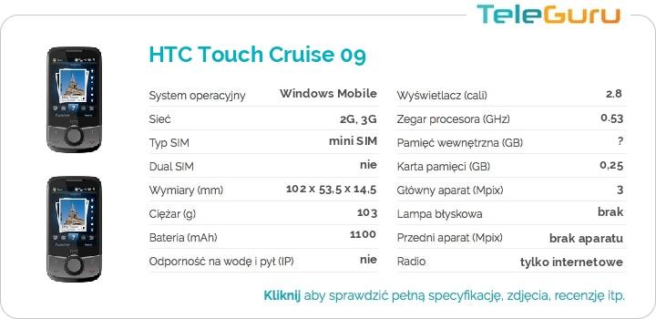 specyfikacja HTC Touch Cruise 09