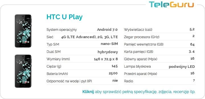 specyfikacja HTC U Play