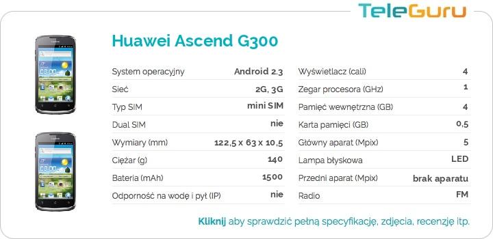 specyfikacja Huawei Ascend G300