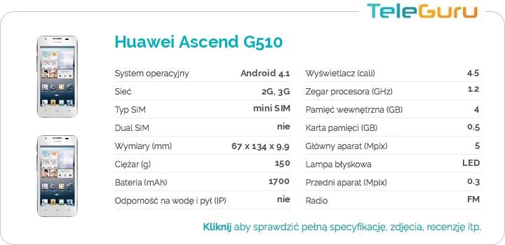 specyfikacja Huawei Ascend G510