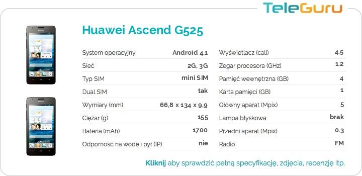 specyfikacja Huawei Ascend G525