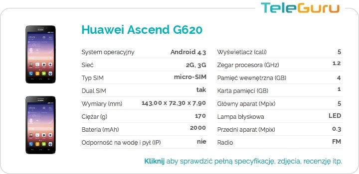 specyfikacja Huawei Ascend G620