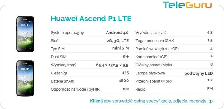 specyfikacja Huawei Ascend P1 LTE