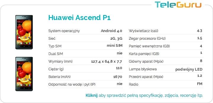 specyfikacja Huawei Ascend P1