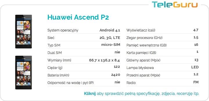 specyfikacja Huawei Ascend P2