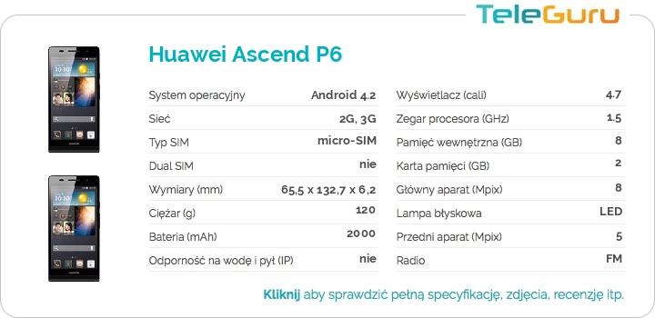 specyfikacja Huawei Ascend P6