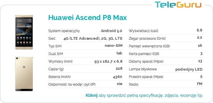 specyfikacja Huawei Ascend P8 Max