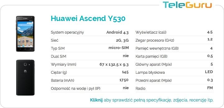 specyfikacja Huawei Ascend Y530