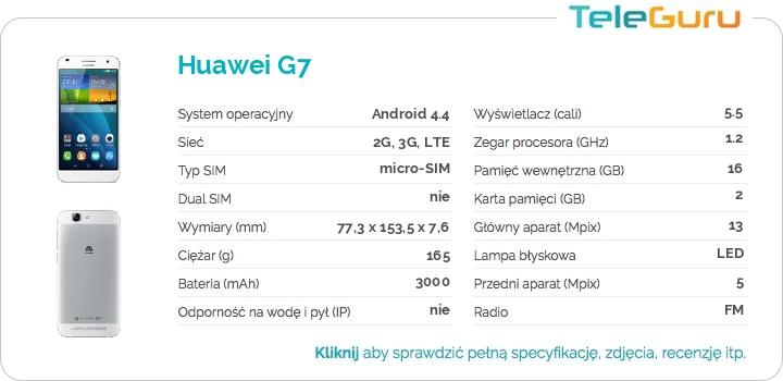 specyfikacja Huawei G7