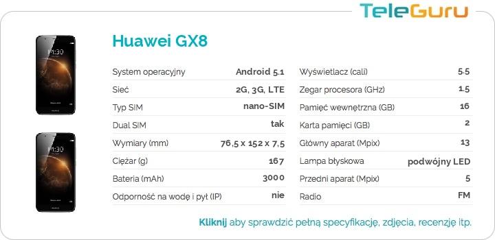 specyfikacja Huawei GX8