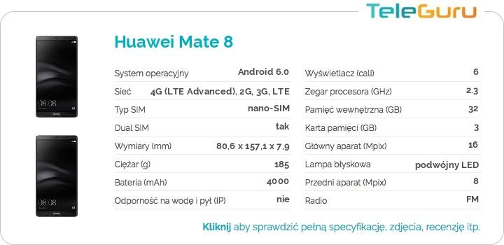 specyfikacja Huawei Mate 8