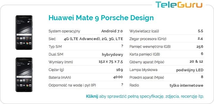 specyfikacja Huawei Mate 9 Porsche Design