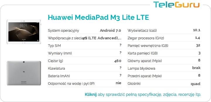 specyfikacja Huawei MediaPad M3 Lite LTE