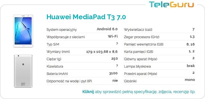 specyfikacja Huawei MediaPad T3 7.0