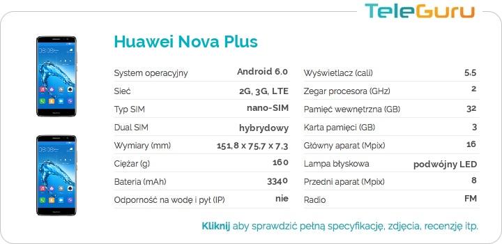 specyfikacja Huawei Nova Plus