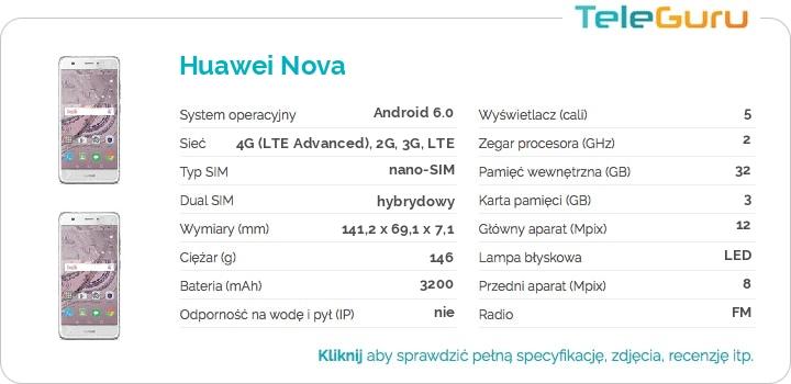 specyfikacja Huawei Nova