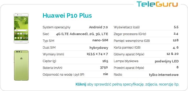 specyfikacja Huawei P10 Plus