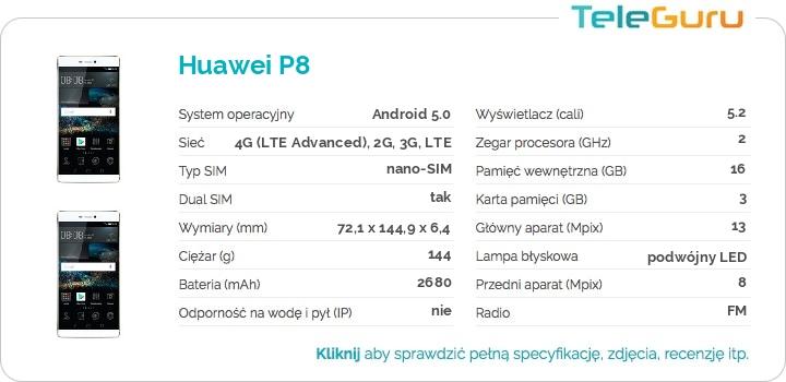 specyfikacja Huawei P8