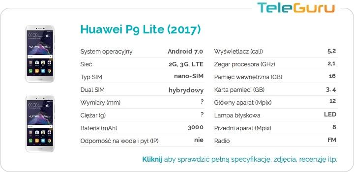 specyfikacja Huawei P9 Lite (2017)
