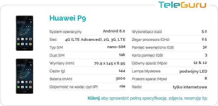 specyfikacja Huawei P9