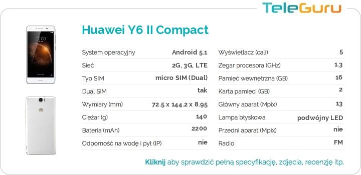specyfikacja Huawei Y6 II Compact