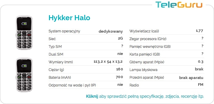 specyfikacja Hykker Halo