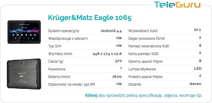 specyfikacja Krüger&Matz Eagle 1065