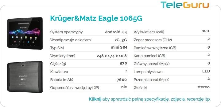 specyfikacja Krüger&Matz Eagle 1065G