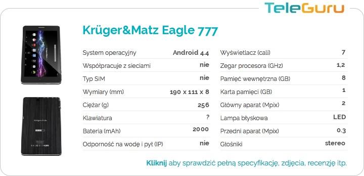 specyfikacja Krüger&Matz Eagle 777