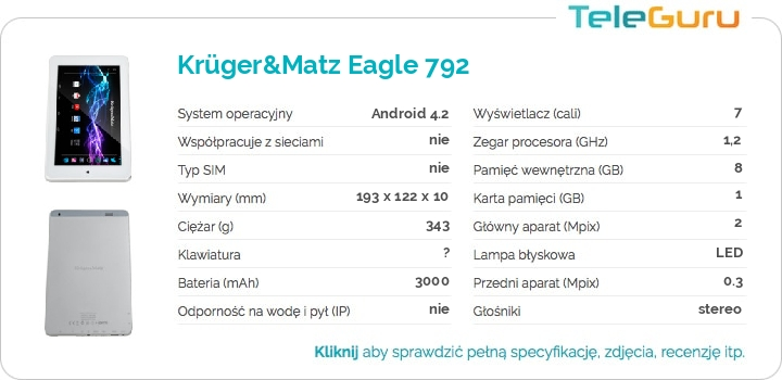 specyfikacja Krüger&Matz Eagle 792