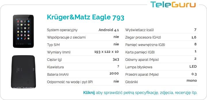 specyfikacja Krüger&Matz Eagle 793