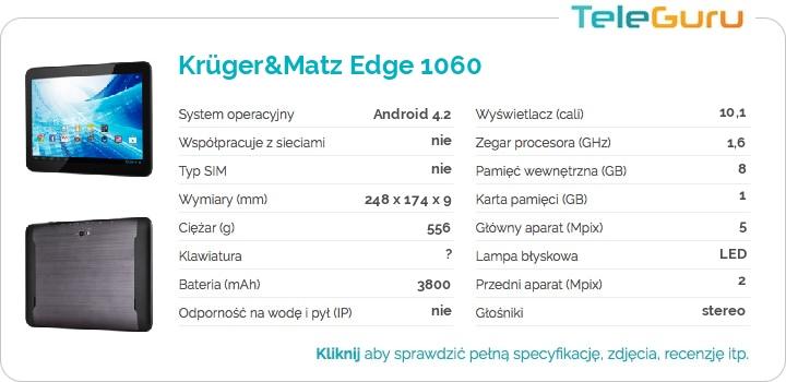 specyfikacja Krüger&Matz Edge 1060