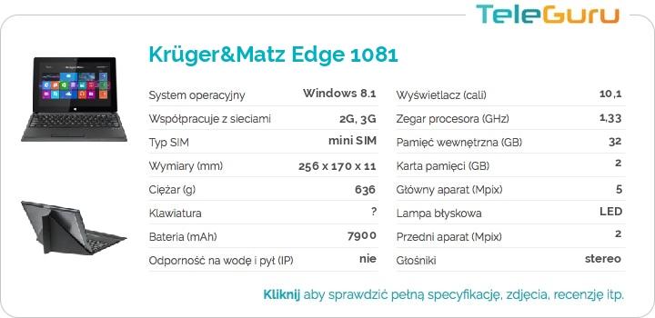 specyfikacja Krüger&Matz Edge 1081