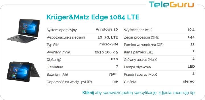 specyfikacja Krüger&Matz Edge 1084 LTE