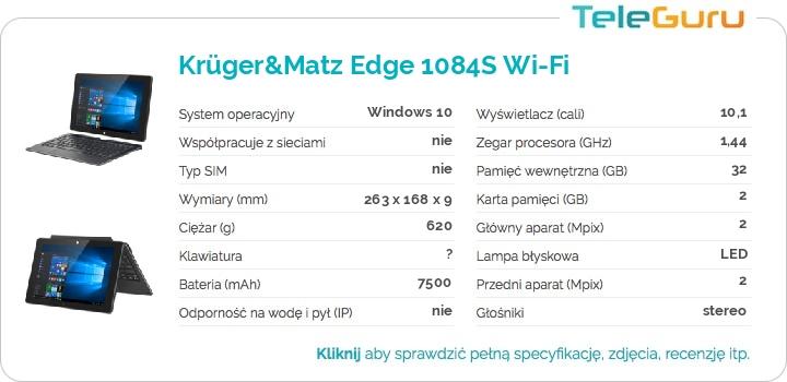 specyfikacja Krüger&Matz Edge 1084S Wi-Fi