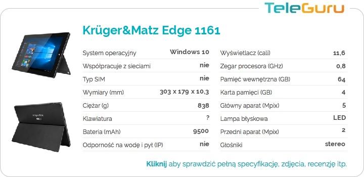 specyfikacja Krüger&Matz Edge 1161