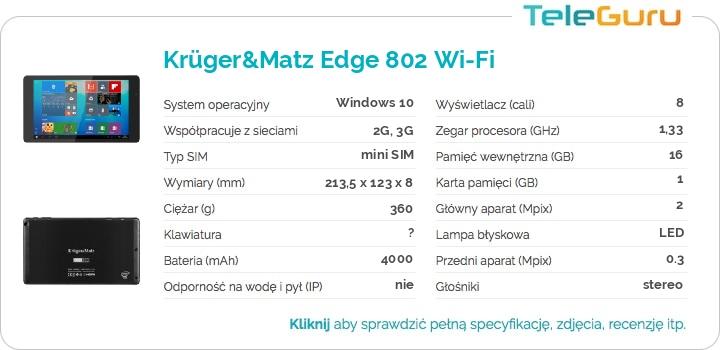 specyfikacja Krüger&Matz Edge 802 Wi-Fi