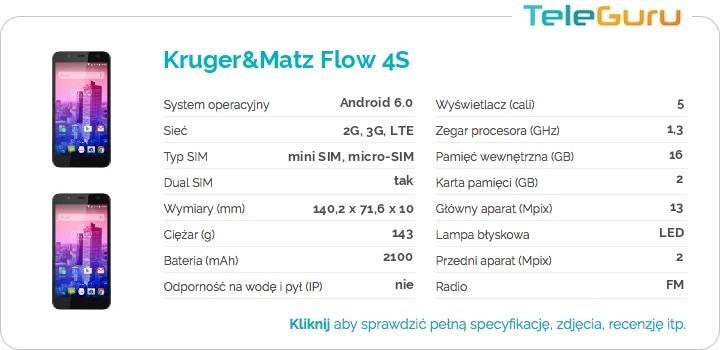 specyfikacja Kruger&Matz Flow 4S