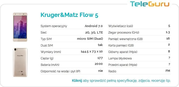 specyfikacja Kruger&Matz Flow 5