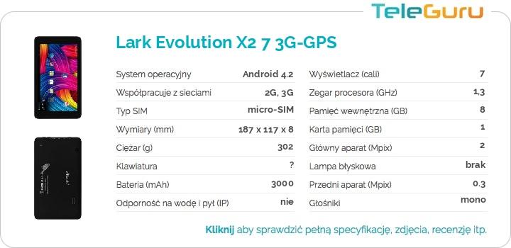specyfikacja Lark Evolution X2 7 3G-GPS