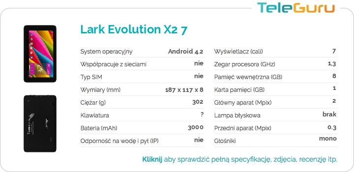 specyfikacja Lark Evolution X2 7