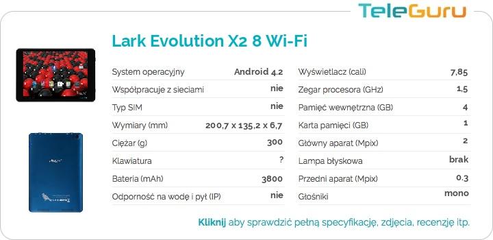 specyfikacja Lark Evolution X2 8 Wi-Fi