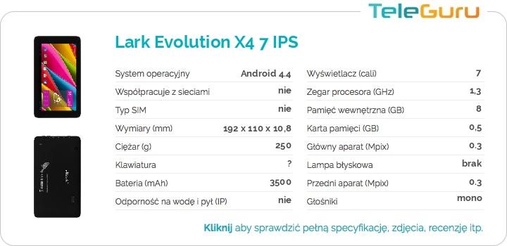 specyfikacja Lark Evolution X4 7 IPS