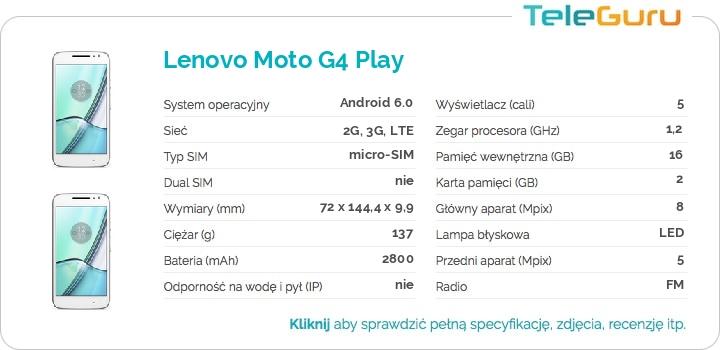 specyfikacja Lenovo Moto G4 Play