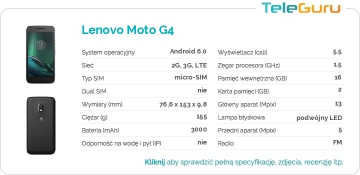 specyfikacja Lenovo Moto G4