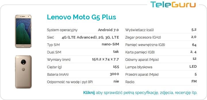 specyfikacja Lenovo Moto G5 Plus