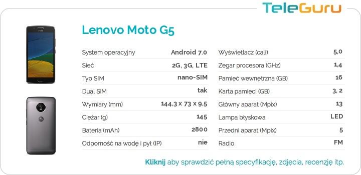 specyfikacja Lenovo Moto G5